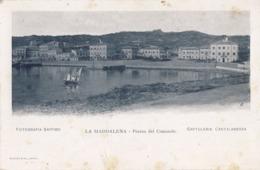 LA MADDALENA-SASSARI-PIAZZA DEL COMANDO-CARTOLINA NON VIAGGIATA -ANNO 1900-1904 - Sassari