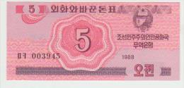 Korea North 5 Chon 1988 Pick 32 UNC - Korea, North