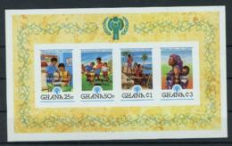 Ghana 1980 IYC AIE Souvenir Sheet Overprint PAPAL VISIT Pope Jean Paul II Imperf MNH - Childhood & Youth