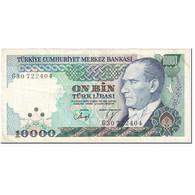 Billet, Turquie, 10,000 Lira, 1985-1989, Old Date 1970-10-14, KM:200, TTB - Turchia