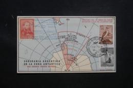 ARGENTINE- Carte De La Base Antarctique Argentine Par Hélicoptère En 1968 Affranchissement Plaisant - L 43477 - Argentinien