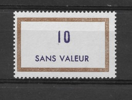 Fictif N° 180 De 1966 ** TTBE - Cote Y&T 2019 De 1,00 € - Phantomausgaben
