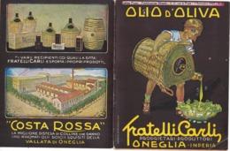 CARTOLINA POSTALE CARTE POSTALE OLIO DI OLIVA  FRATELLI CARLI Proprietari Produttori ONEGLIA-IMPERIA - Pubblicitari