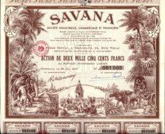 SAVANA .Action De 2500 Fr -1952 - Afrique