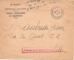 Lettre 1940 Bureau Central N°1 Pour Lille Nord - Postmark Collection (Covers)