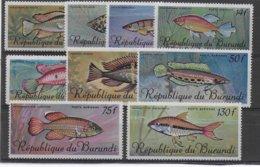 BURUNDI - POSTE AERIENNE YVERT N° 62/70 ** MNH  - COTE = 45 EUR. - POISSONS - Burundi