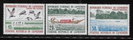 Cameroun Cameroon 1971 River Scenes Sanaga River Birds Cranes MNH - Cameroon (1960-...)