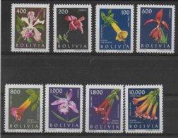 BOLIVIA - YVERT N° 426/429 + PA 218/221 ** MNH  - COTE = 19.5 EUR. - FLORE - Bolivia