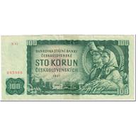 Billet, Tchécoslovaquie, 100 Korun, 1961, Undated (1961), KM:91c, AB - Czechoslovakia