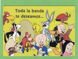 LOONEY TUNES Toda La Banda Te Deseamos ... Un Feliz Cumpleanos Tout Le Groupe Vous Souhaite Un Joyeux Anniversaire - Comics