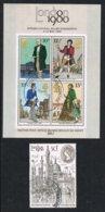 1980 - GRAN BRETAGNA / GREAT BRITAIN - ESPOSIZIONE FILATELICA LONDON 1980 - INTERNATIONAL STAMP EXHIBITION.USATO / USED. - 1952-.... (Elizabeth II)