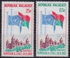 MADAGASKAR MADAGASCAR [1962] MiNr 0475-76 ( **/mnh ) - Madagaskar (1960-...)