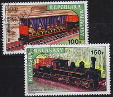 MADAGASKAR MADAGASCAR [1973] MiNr 0689-90 ( O/used ) Eisenbahn - Madagaskar (1960-...)