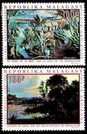MADAGASKAR MADAGASCAR [1969] MiNr 0606-07 ( **/mnh ) Gemälde - Madagaskar (1960-...)