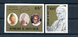 A24304)Johannes Paul II.: Obervolta 782 - 783 Ungezähnt** - Päpste