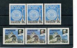 A24324)Johannes Paul II.: Paraguay 4219 - 4224** - Päpste