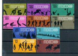 A24449)Olympia 68: Mexiko 1261 - 1270** - Sommer 1968: Mexico