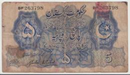 PAKISTAN  P. 5  5 R  1948 Poor - Pakistan