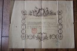 Diplôme 1889 Chevalier De L'Ordre Royal Du Cambodge Lieutenant D'Infanterie De Marine   Indochine - Diplômes & Bulletins Scolaires