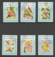 Laos - 1985 Buenos Aires Stamp Exhibition - Orchids CTO  Sc 637-42 - Laos
