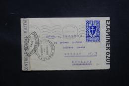 CAMEROUN - Enveloppe De Douala Pour Londres ( Leclerc) En 1943 Avec Contrôle Postal, Affranchissement Plaisant - L 43488 - Cameroun (1915-1959)