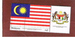 MALESIA (MALAYSIA)  -  SG 1155 -   2003  INDEPENDENCE ANNIVERSARY: FLAG (WITH LABEL)  -  USED ° - Malesia (1964-...)