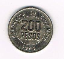 //  COLOMBIA  200 PESOS  1994 - Kolumbien