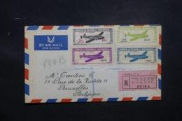 MOZAMBIQUE - Enveloppe En Recommandé De Beira Pour Bruxelles En 1947 Par Avion, Affranchissement Plaisant - L 43490 - Mozambique