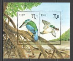 A828 1995 FIJI FAUNA BIRDS & CRABS KINGFISHER MICHEL 10 EURO BL12 1BL MNH - Andere