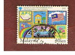 MALESIA (MALAYSIA)  -  SG 1176 -   2003 INT. CHILD DAY: FLAG  -  USED ° - Malesia (1964-...)
