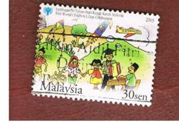 MALESIA (MALAYSIA)  -  SG 1174 -   2003 INT. CHILD DAY: CHILDREN  -  USED ° - Malesia (1964-...)