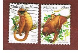 MALESIA (MALAYSIA)  -  SG 1177.1178 -   2003 ANIMALS: MONKEY -  USED ° - Malesia (1964-...)