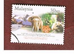 MALESIA (MALAYSIA)  -  SG 1186 -   2004  ENDANGERED ANIMALS & PLANTS: ELEPHANT   -  USED ° - Malesia (1964-...)