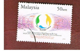 MALESIA (MALAYSIA)  -  SG 1187 -   2004  BIOLOGICAL DIVERSITY CONVENTION   -  USED ° - Malesia (1964-...)