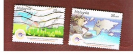 MALESIA (MALAYSIA)  -  SG 1192.1193 -   2004  TOURISM MEETING  -  USED ° - Malesia (1964-...)