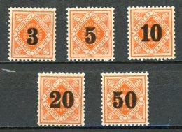 Allemagne  Service / Dienstmarke   Y&T   176 - 180    XX  MNH   ---    Mi   184 - 188   --   TB - Wuerttemberg