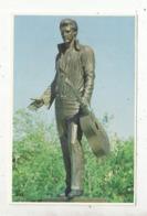 Cp , ETATS UNIS , TENNESSEE ,MEMPHIS ,  Impressive Bronze Statue Of ELVIS , Célébrité,vierge ,1981 - Memphis