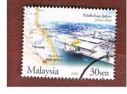MALESIA (MALAYSIA)  -  SG 1213 -   2004  PORTS & HARBOURS: JOHORE  -  USED ° - Malesia (1964-...)