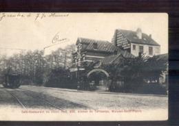 Woluwe Saint Pierre - Tervueren - Cafe Restaurant Du Chien Vert - Tram - Laiterie - 1910 - Bélgica