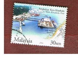 MALESIA (MALAYSIA)  -  SG 1214 -   2004  PORTS & HARBOURS: KOTA KINABALU  -  USED ° - Malesia (1964-...)