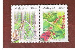 MALESIA (MALAYSIA)  -  SG 1225a -   2004  MATANG MANGROVES PARK (2 DIFFERENTE STAMPS SE-TENANT)   -  USED ° - Malesia (1964-...)