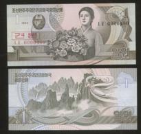 Korea North 1 Won 1992 Pick 39S2 UNC - Corée Du Nord