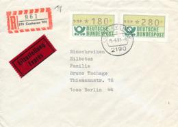 CUXHAVEN - 15.6.81 ,  Express R-Brief Nach Berlin - [7] Federal Republic