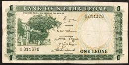 SIERRA LEONE 1 LEONE 1970 Pick#1c Lotto 2924 - Sierra Leone