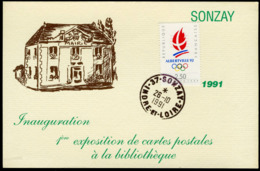 SONZAY - 1re Exposition De Cartes Postales 1991 - France
