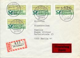 CUXHAVEN - 26.11.81 ,  Express R-Brief Nach Berlin - [7] Federal Republic
