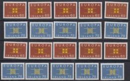 Europa Cept 1963 Iceland 2v (10x) ** Mnh (44938) - Europa-CEPT