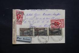 CAMEROUN - Enveloppe En Recommandé De Obala Pour Militaire En 1943 Avec Contrôle , Affranchissement Plaisant - L 43492 - Cameroun (1915-1959)