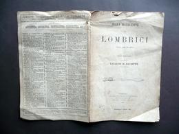 Sulla Distruzione Dei Lombrici Lasagno Giuseppe UTET Torino 1891 Zoologia Raro - Vecchi Documenti