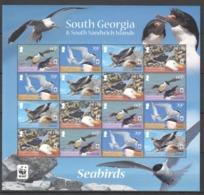 A868 SOUTH GEORGIA WWF FAUNA BIRDS SEABIRDS !!! MICHEL 52 EURO !!! 1SH MNH - W.W.F.